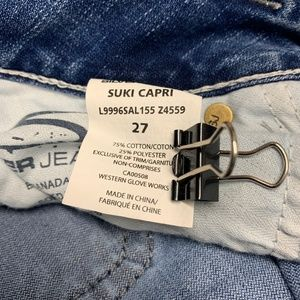 Silver Jeans Jeans - Silver Womens Jeans Suki Capri Crop Blue 27 AH